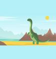 dinosaur world adventure park poster card vector image