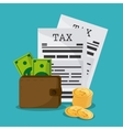 Document and wallet icon Tax and Financial item vector image vector image