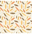 Falling autumn leaves seamless pattern vector image vector image