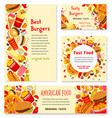 fast food restaurant banner and poster template vector image vector image