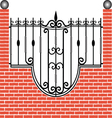 Fence of brick and iron vector image vector image
