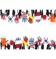 Flag hands vector image