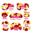 flower icon of spring season holiday greeting card vector image
