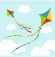 fly color kites surfing vector image