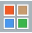 Four white modern frames vector image
