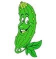 Fresh cucumber cartoon vector image vector image