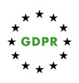 gdpr flat icon vector image