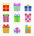Gift symbol set vector image vector image