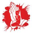 girl prayer christian praying praise god vector image vector image