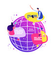 global network concept international online chat vector image