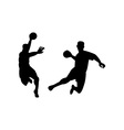Handball Player Jumping Retro vector image vector image