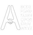 handshake alphabet vector image vector image
