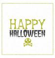 happy halloween greeting card typography design vector image