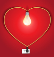 Heart lamp ideas concept vector image