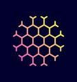 hexagon honeycomb icon vector image vector image