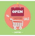 Icons of shopping concept vector image
