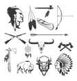 Indian icons Native americans American indians vector image vector image