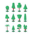 isometric trees set objects for landscape vector image vector image