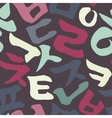 Korean alphabet pattern vector image vector image
