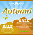 light seasonal sale template vector image