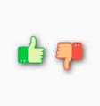 like and dislike icons set vector image vector image