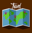 map icon with pin entires travel concept vector image
