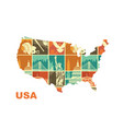 map usa with traditional symbols stylized vector image vector image