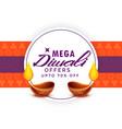 mega diwali sale festival poster template vector image vector image