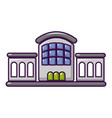 railway station icon cartoon style vector image