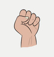 raised fist vector image vector image