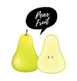realistic green pear vector image vector image