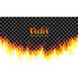 realistic transparent fire flames on vector image vector image