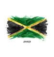 realistic watercolor painting flag of jamaica vector image vector image