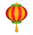 Red chinese lantern icon cartoon style vector image