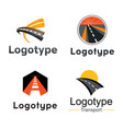 road transport abstract element set logo vector image