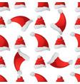 santa claus fashion red hat seamless pattern vector image