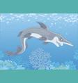 scary goblin shark vector image