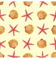 Sea Elements On Sand Seamless Pattern vector image vector image