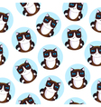Seamless pattern of the siamese cat vector image