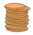 set coins vector image vector image