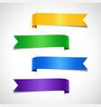 set colored decorative arrow labels vector image vector image