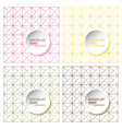 set of abstract molecules and 3d paper integrated vector image vector image