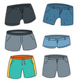 set of shorts vector image vector image