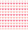 simple seamless geometric pattern with hearts vector image