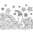 sleeping moon vector image vector image