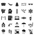 spectacles icons set simple style vector image vector image