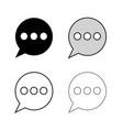 speech bubbles icon vector image vector image