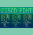 spotted dotted disco font in different variants vector image vector image