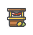 street shop market store icon cartoon vector image