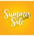 Summer Sale Lettering Design vector image vector image